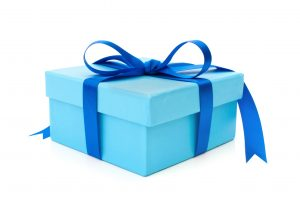 A blue gift