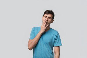 A yawning man